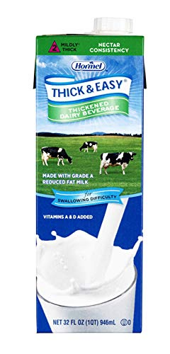Thick & Easy Dairy Thickened Beverage 32 oz. Carton Milk Flavor Ready to Use Nectar Consistency, 73625 – Case of 8