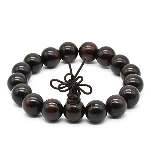 Rope Rel - Rel Goods Unisex Natural Rosewood Prayer Wooden Beads Fashion Necklace Bracelet Mala Hand on (12mm17)