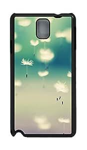 Samsung Note 3 Case Autumn Dandelion 03 PC Custom Samsung Note 3 Case Cover Black