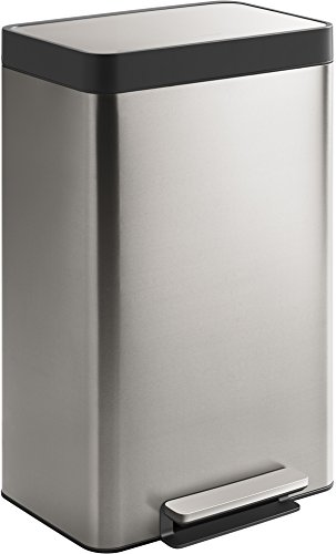 Kohler 20940-ST 13-Gallon Stainless Trash Can, Stainless Steel