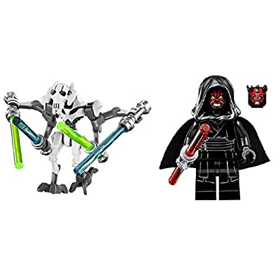 LEGO Accessories Dark Side Lot 1: General Grievous and Darth Maul: Toys & Games