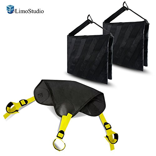 LimoStudio Black Heavy Duty Photographic Studio Video Sand Bag, Counter Weight Bag for Universal Light Stand for Boom Stand and Tripod, AGG2623 by LimoStudio