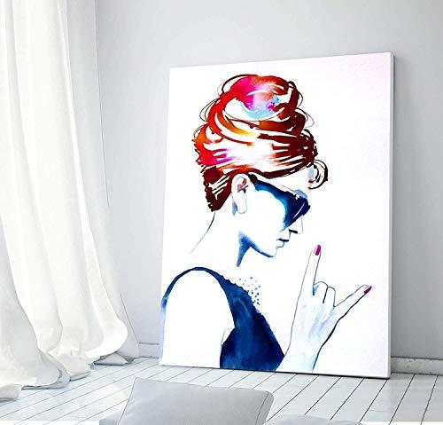Fine Edge Trendy (Audrey Rocks Wall Decor - Unique Contemporary Art For Salon - Nail, Beauty & Hair Salon Decor Ideas)