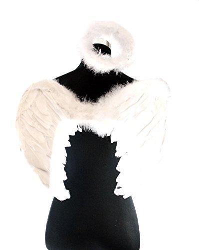 Zac's Alter Ego Women's Fancy Dress Angel Feather Halo & Wings Set One Size (Alter Halloween Costume)