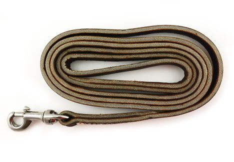 Leerburg Amish Leather Leash Brown product image