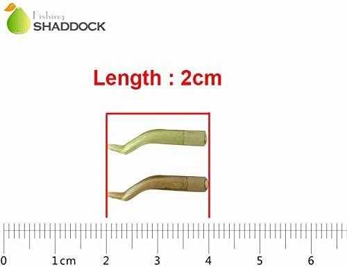 Shaddock 50pcs Carp Fishing Hook Anti-tangle Sleeves Line Elbow Hook Aligners Fishing Gear Aligners Fishing Terminal Tackle Accessories