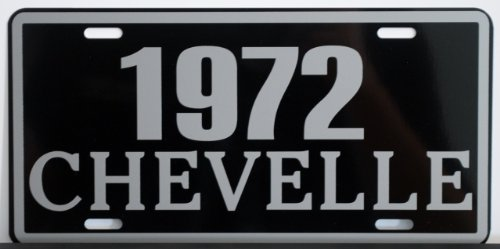 Motown Automotive Design 1972 72 Chevelle Metal License Plate SS Super Sport 327 350 396 454 FITS Chevy TAG 6 X 12 HOT Rod Muscle CAR Classic Museum Collection Novelty Gift Sign
