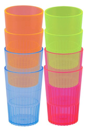 Neon Plastic Shot Glasses Assorted (8 count)