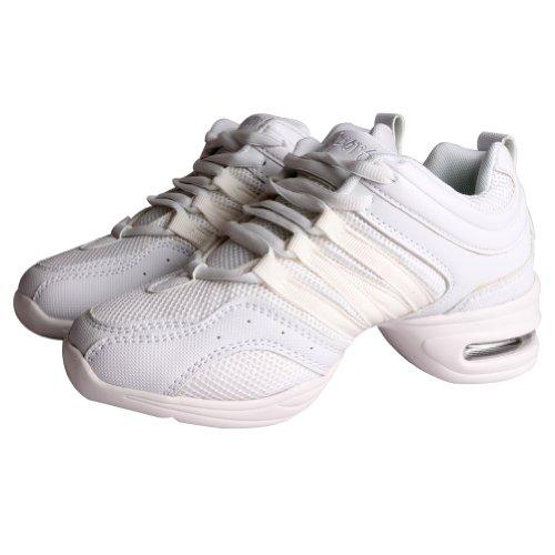 Hip Zapatos Free Mujer de Zapatos Deportivos Blanco Hop Baile Tango Danza Jazz de Fisher para Tgg1wqxZ8