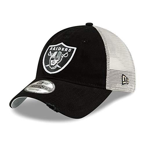New Era Oakland Raiders NFL 9Twenty Stated Back Adjustable Meshback Hat (New Era Canvas Cap)
