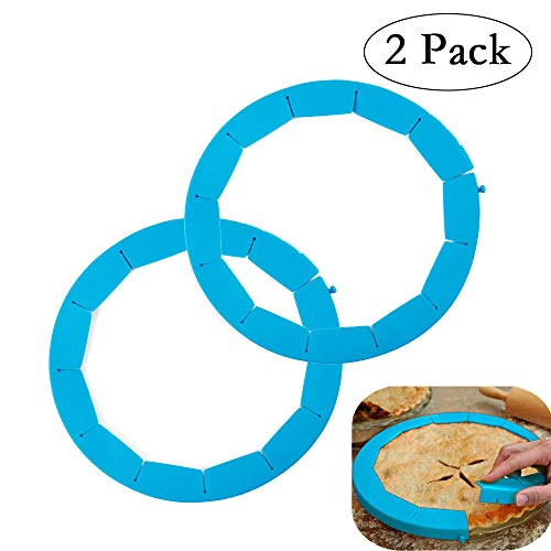 - Neepanda Pie Crust Shield Adjustable Pie Crust Protector BPA-free FDA Food Safe Silicone Pie Shield Protector, Fits Any Size Pie 8 to 11.5-inch Including Rimmed Dishes(2 Pack, Blue)