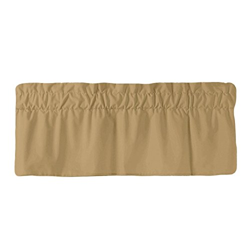 Window Valance Latte - AB Lifestyles Straight Valance in Latte - Fully Lined with 3 inch rod pocket
