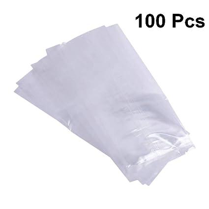 UPKOCH - 100 bolsas de plástico transparente para hielo ...