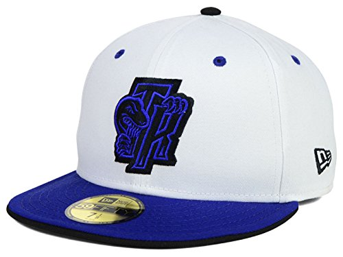 Toronto Raptors NBA New Era Hardwood Classic 59Fifty Fitted August Hook-Ups White/Royal Cap Hat (7 5/8)
