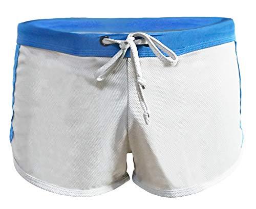 Men's Fitted Shorts Bodybuilding Sport Short Trousers Training Short Pants Swim Briefs,Gray,US L(tag XL)