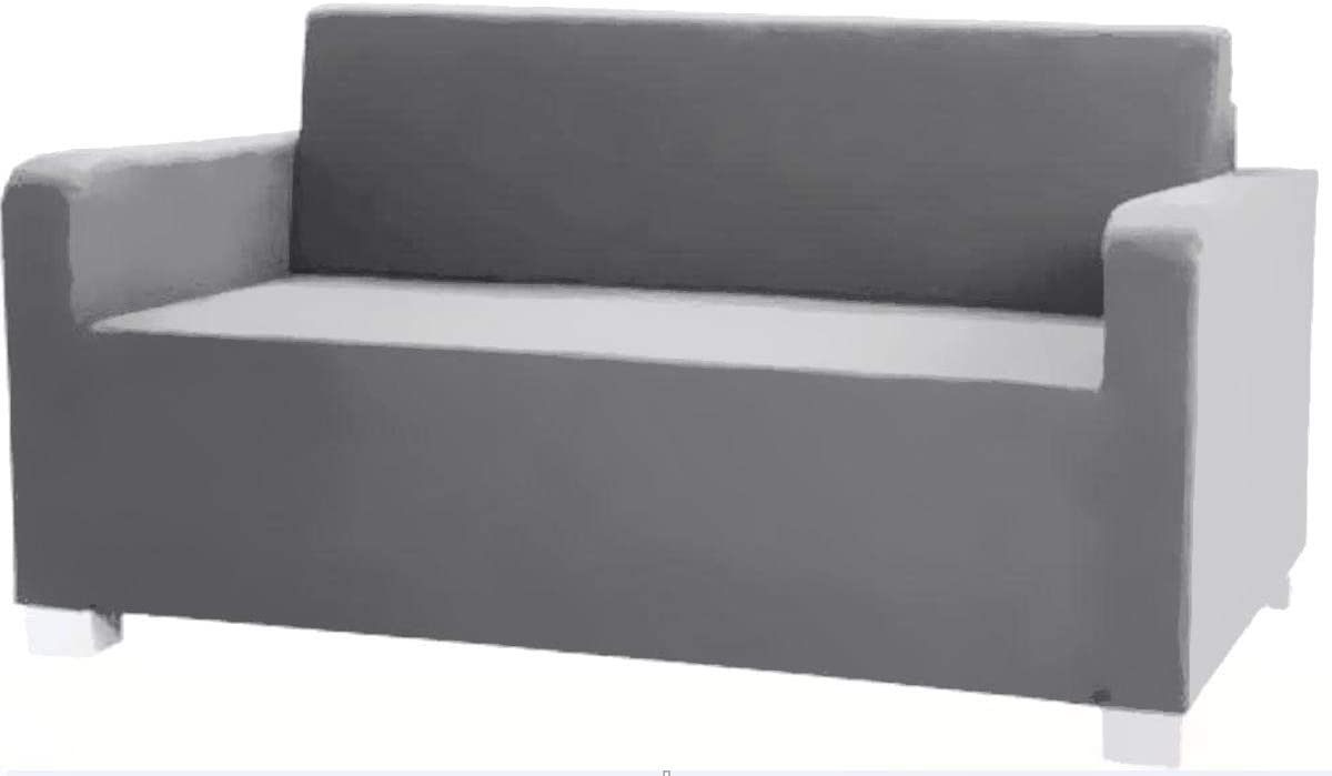 HomeTown Market The Solsta Sofa Cover, Durable Cotton, is Custom Made to Fit IKEA Solsta Sofa Bed As Slipcover Replacement (Light Gray)