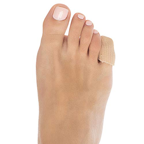 ZenToes 5 Pack Toe Caps Closed Toe Fabric Sleeve Protectors with Gel Lining, Prevent Corn, Callus and Blister Development Between Toes, Soften and Soothe The Skin (Size Small)