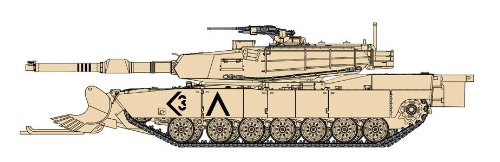 Cyber Hobby Models M1A1 with Mine Plough