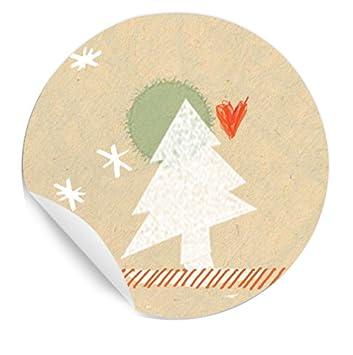 Gebastelte Weihnachtsdeko.Eine Der Guten 24 Weihnachtsdeko Aufkleber Runde Sticker Für Selbst Gebastelte Adventskalender Und Weihnachtsgeschenke Matte Papieraufkleber