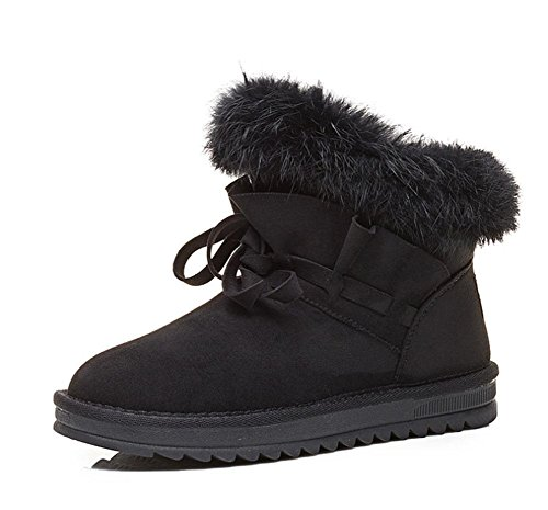 plus lässig Schneeschuhe Baumwollschuhe Samt 002 Schneeschuhe Mode warme Röhre Baumwolle kurze Schnee KUKI wild Pq8gax