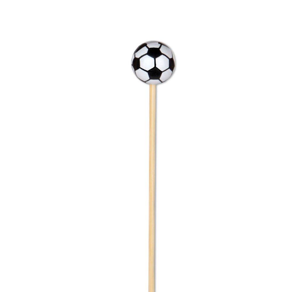 Soccer Appetizer or Sandwich Picks / Swizzle Stick - 4 3/4'' - 100ct