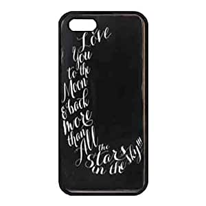 Case For Ipod Touch 4 Cover Black Hard shellCase For Ipod Touch 4 Cover s Protective Case Design with a black wooden board Saying I love you to the moon and back Case For Ipod Touch 4 Cover