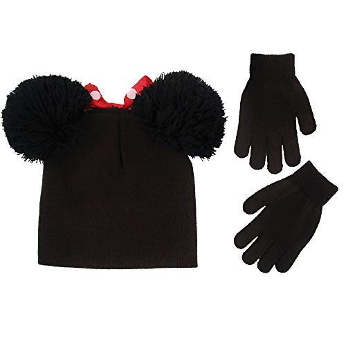 a2555dd6d01 Disney Little Girls Minnie Mouse Hat and Gloves Cold Weather Set ...
