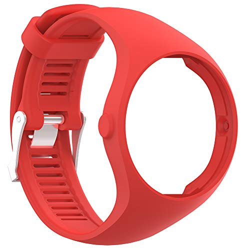(TYewa98556 New Ungrade 2019 Solid Color Soft Silicone Smart Bracelet Watch Strap Wrist Band for Polar M200 - Red)