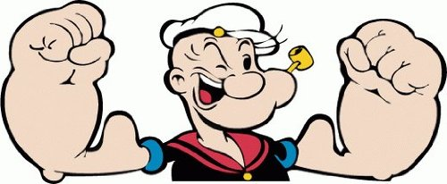 amazon com popeye the sailor man cartoon car bumper sticker decal 6