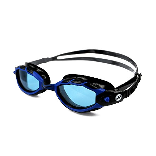 Barracuda Swim Goggle Triton   Wire Frame Technology  Curved Lenses Anti Fog Uv Protection  Easy Adjustment  Comfortable Quick Fit No Leaking  Triathlon For Adults Men Women  33925  Blue