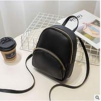 HOUSIMIN New Women Girls Mini Backpack Faux Leather Rucksack School Bag Travel Handbag US (黑色, OneSize)