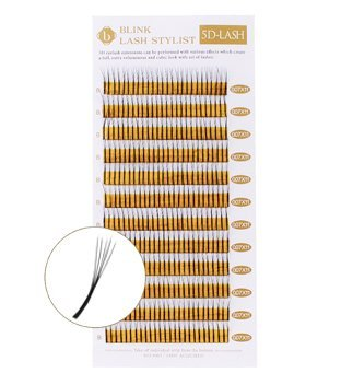 Blink VOLUME Mink Tray Eyelash Extension Lashes 5D LASH C 0.07 MIXED (7-14MM)