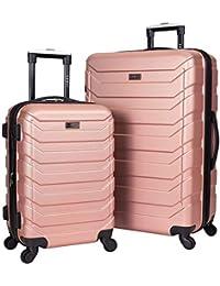 Expandable Spinner Hardside Luggage Set, Rose Gold