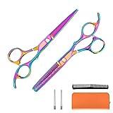 Kilajojo Hair Scissors and thinning shears set - Professional Barber...