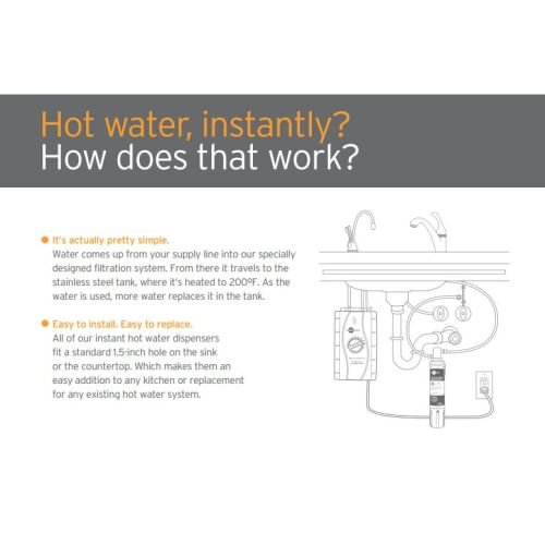 InSinkErator F-GN1100 Instant Hot Water Dispenser, Single Handle with 5-Year In-, Chrome