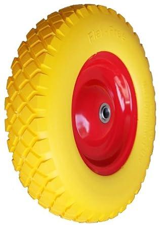 Rueda de poliuretano 400, rueda de carretilla de goma maciza 4,80/4,00-8, rueda de goma 400 mm: Amazon.es: Industria, empresas y ciencia