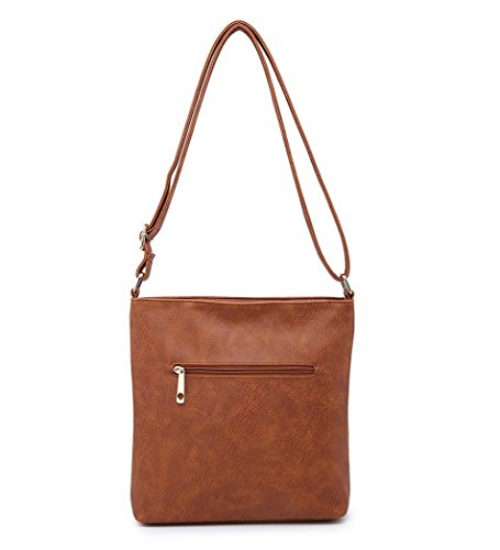 Handbags Brown Leather Womens Shoulder Fashion Ladies O48 Crossbody Messenger Faux xzxqfwgR0