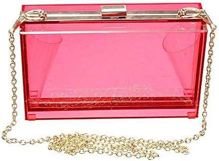 ファッション女性の透明アクリルPerspexクラッチクリア財布のハンドバッグ YZUEYT