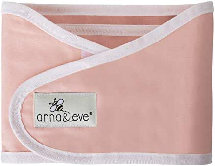 Anna & Eve - Baby Swaddle Strap, Adjustable Arms Only Wrap for Safe Sleeping - Small Size Fits Chest 13.5 to 17, Pink