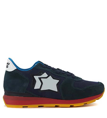 atlantic-stars-mens-sneaker-atlantic-stars-antares-in-suede-blu-petrolio-e-tessuto-blu-40it-7us-blue