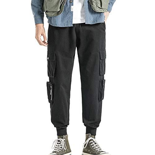 [해외]iMakCC Men`s Casual Straight Overalls Pocket Trousers Drawstring Pants / iMakCC Men`s Casual Straight Overalls Pocket Trousers Drawstring Pants