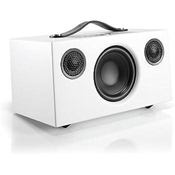 Audio Pro Addon C5 - Compact WiFi Wireless Multi-Room Speaker - High Fidelity - Works With Alexa - White