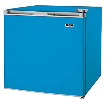 Image of Home and Kitchen 1.6-1.7 Cubic Foot Fridge, Blue