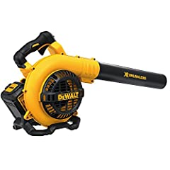 The DEWALT DCBL790M1 40v Max Blower, 4AH features a brushless motor that provides more runtime and longer life with a more efficient and more durable motor. This blower offers a quiet design of under 67 dB for use in noise restricted areas. I...