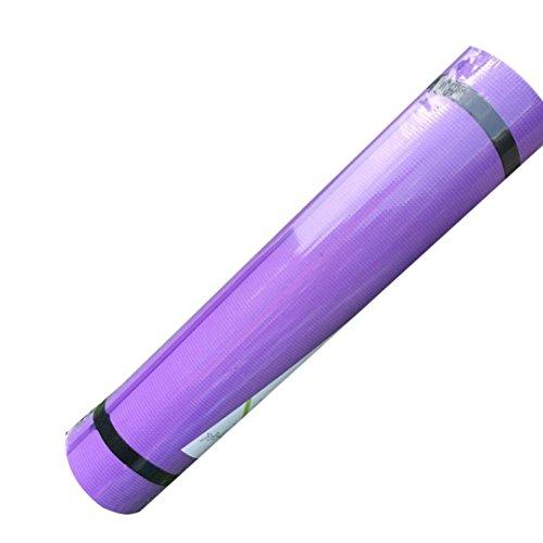 Price comparison product image Yoga Mat , Saingace 6MM EVA Thick Durable Non-slip Exercise Lose Weight Fitness Pad Mat (Purple)
