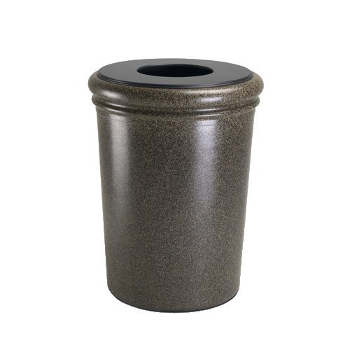 Commercial Zone 50 Gallon Waste Container, Concrete, Aspen by Commercial Zone