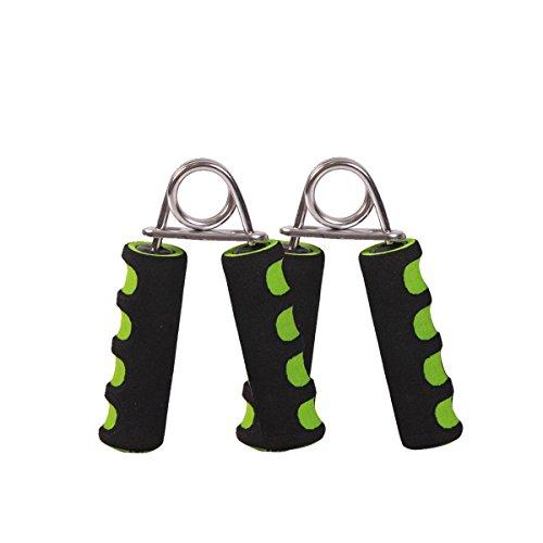 Kylin Sport Foam Handle Hand Gripper Grips Arm Muscle Builder Wrist Strengthener  2 X Green Black
