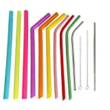 Reusable Silicone Straws & Stainless Steel Straws Suit