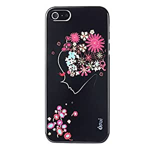 Gt Smile In Flower Coloured Drawing Pattern Hard Case for iPhone5/5S(Assorted Colors)