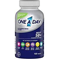 One A Day Men's 50+ Multivitamins, Supplement with Vitamin A, Vitamin C, Vitamin D, Vitamin E and Zinc for Immune Health Support*, Calcium & more, 100 count